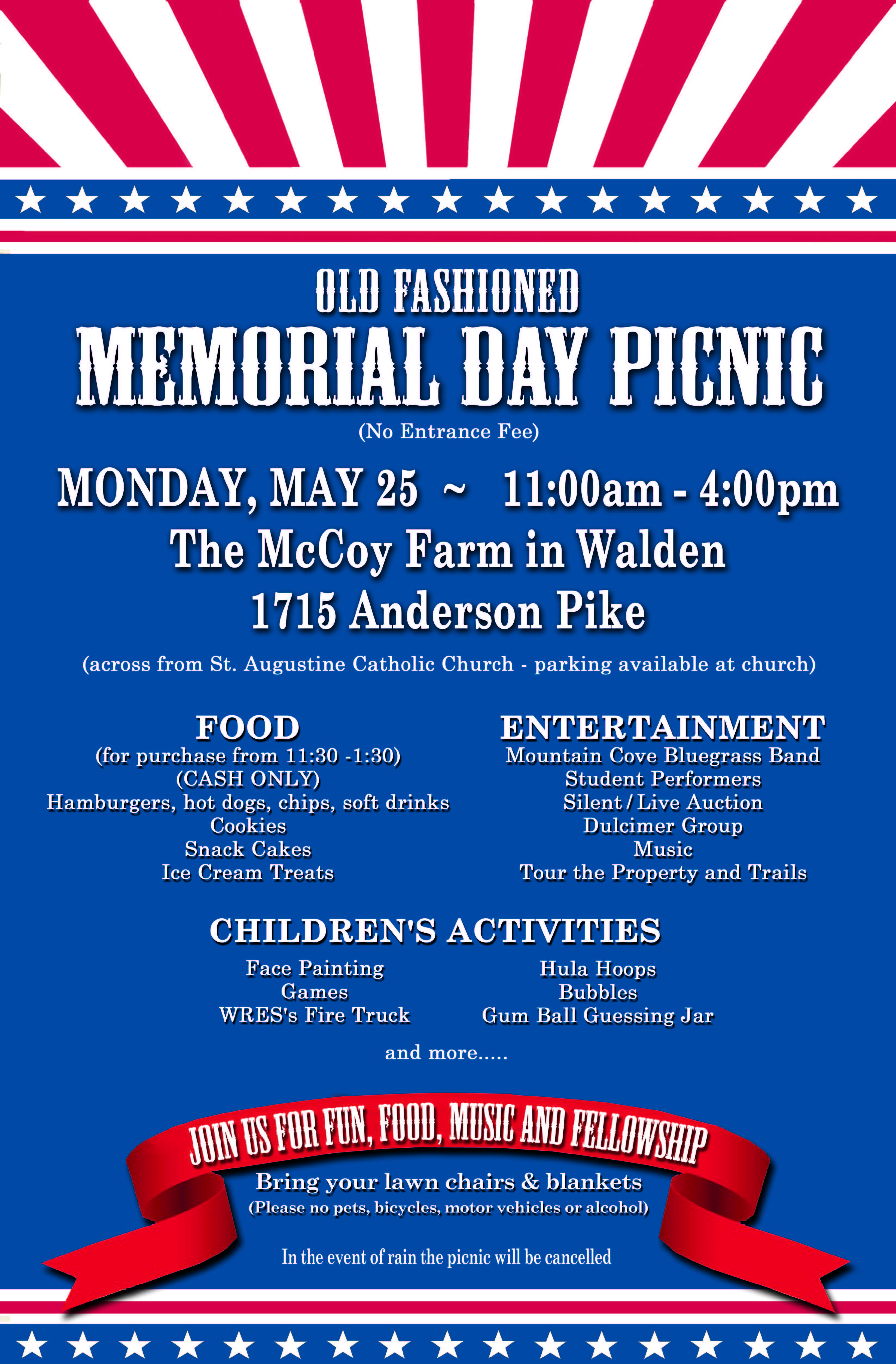 Memorial Day Event Poster